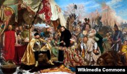 Ян Матэйка. Сьцяпан Батура пад Псковам. 1872