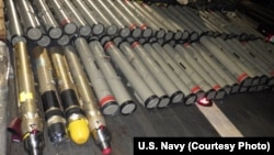 The shipment of advanced weapons and weapon components were seized in the Arabian Sea aboard a stateless dhow sailing vessel.