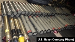 The shipment of advanced weapons and weapon components was seized in the Arabian Sea aboard a stateless dhow.