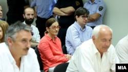 Гордана Јанкулоска и Мартин Протоѓер на рочиште за случајот Титаник