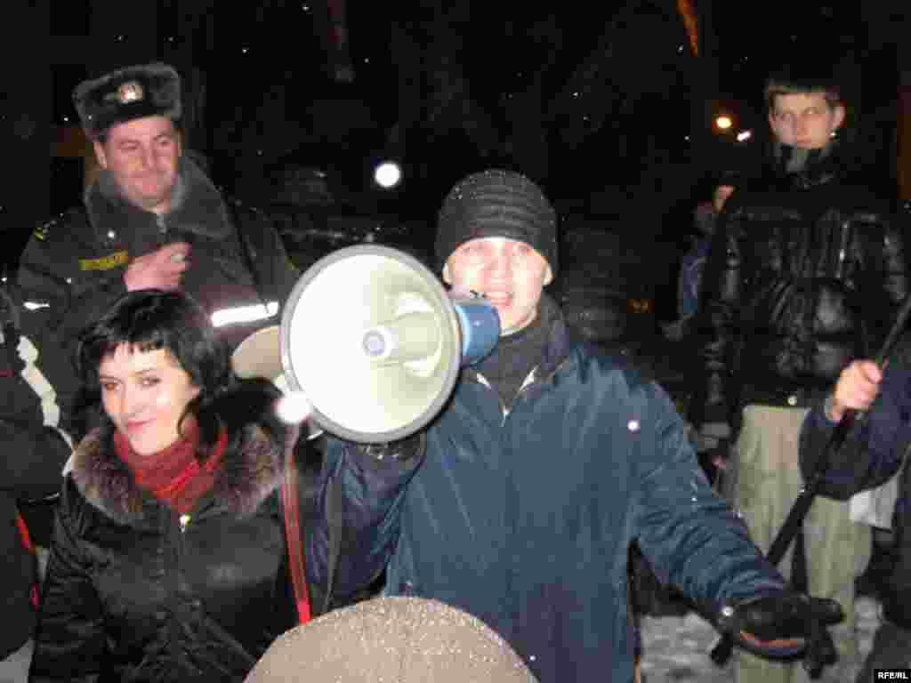 Дашкевіч на сьвяткаваньні Дня Сьвятога Валянціна, 2009