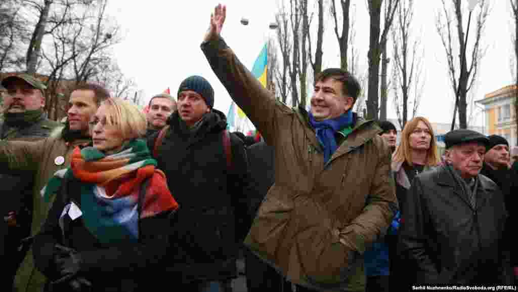 Раніше прихильники Саакашвілі вже проводили схожі акції в Києві