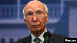 Sartaj Aziz national security and foreign affairs advisor to Pakistani Prime Minister Nawaz Sharif