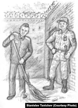 Российская тюрьма. Иллюстрация: Станислав Таничев