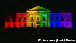Белый дом в Вашингтоне вечером 26 июня