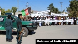 The People's Peace Movement has attracted international attention in the past year with its peace marches across Afghanistan. (file photo)