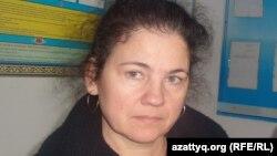 Правозащитник из города Павлодара Елена Семёнова.