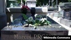 Mormîntul lui Marcel Proust la cimitirul Père-Lachaise, la Paris