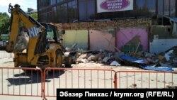 Возле торгового центра «Куб» в Симферополе, архивное фото