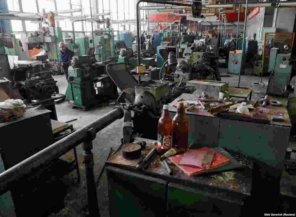 The factory interior in a March 26 photo (the images in this gallery were released by Reuters on March 30). The last big government request for ventilators came in 2008, but payment for the order never arrived and the factory was shut down soon afterwards.