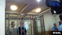Олег Сенцов и Александр Кольченко в зале суда (Ростов-на-Дону)