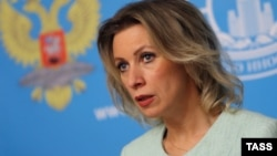 "Russian Foreign Ministry spokeswoman Maria Zakharova said the findings show the probe was ""biased and politically motivated."" (file photo)"
