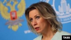 Россия Ташқи ишлар вазирлиги матбуот котиби Мария Захарова.