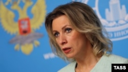 Russia -- Russian Foreign Ministry spokeswoman Maria Zakharova speaks at a press conference in Moscow, February 4, 2016