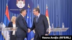 Milorad Dodik i Aleksandar Vučić, Beograd, 2. septembar 2017.