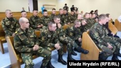 Вайскоўцы падчас суду ў справе Коржыча