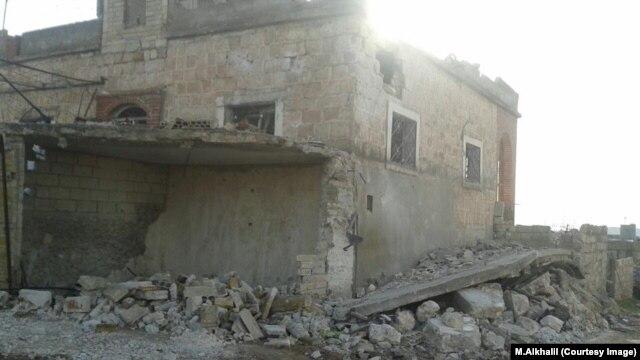 Разрушенный дом семьи Алькхалиль в Идлибе