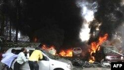 از مجموع ۱۲ بمب که در فاصله یک ساعت منفجر شدند، پنج بمب شهر گواهاتی؛ شهر اصلی ایالت آسام، را لرزاند.(عکس:AFP)