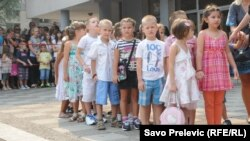 Prvi dan škole, Podgorica, 3. septembar 2012.