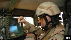 جندي أميركي في كامب فيكتوري ببغداد