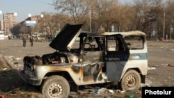 Armenia - The site of deadly clashes between security forces and opposition protesters, Yerevan, 2Mar2008.