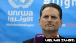Pierre Kraehenbuehl, commissioner of the UN Relief and Works Agency (UNRWA)