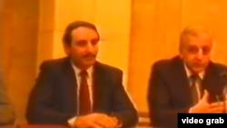 Пресс-конференция Джохара Дудаева и Звиада Гамсахурдия в Грозном, на которой они говорят об объединении кавказского народа, 1992 г.