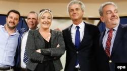 Matteo Salvini și Marine Le Pen, alături de alți lideri de extremă dreaptă din Olanda și Danemarca