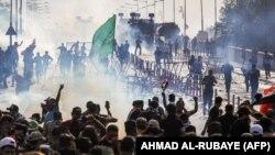 Իրաք - Ցուցարարների և անվտանգության ուժերի բախումները Բաղդադում, 1-ը հոկտեմբերի, 2019թ․