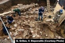 Падчас раскопак на гары Гедзіміна