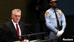 Tomislav Nikolić govori na sednici Generalne skupštine UN