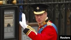 Britanski princ William snimljen na dan vjenčanja sa Kate Middleton, London,29. april 2011.