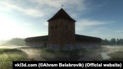Рэканструкцыя Крэўскага замку. http://vkl3d.com/