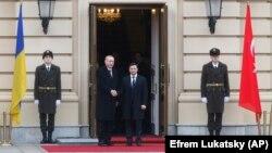 Президента Украины Владимир Зеленский и президент Турции Реджеп Тайип Эрдоган