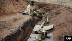 Донецк облысының Горловка елді мекеніндегі украин әскерінің бекінісі. 4 наурыз 2015 жыл.