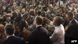 اوباما در دیدار با نیروهای ارتش آمریکا در فورتلی