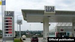 Автозаправочная станция, принадлежащая азербайджанской государственной нефтяной компании Socar.