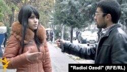 Суол аз раҳгузарон дар кӯчаҳои Душанбе