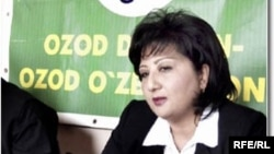 Nigora Hidoyatova, the outspoken leader of the unregistered Free Peasants Uzbek opposition party.
