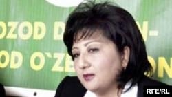 Нигора Хидоятова, лидер незарегистрированной оппозиционной партии Узбекистана «Свободные дехкане».