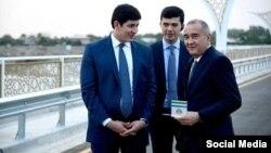Мэр Ташкента с зятем Мирзиёева Отабеком Умаровым