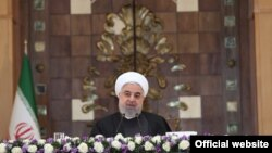 Iranian President Hassan Rouhani speaking at a meeting of foreign ambassadors in Iran. January 10, 2020.