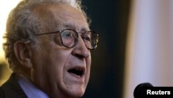 "Lakhdar Brahimi: ""We shall continue to work as hard as we possibly can."""