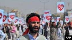 Исламға қарсы фильмге наразылық ретінде өткен антиамерикалық шеру. Кабул, 20 қыркүйек 2012 жыл. (Көрнекі сурет)