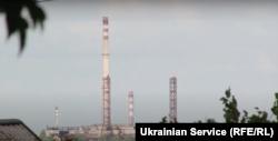 Із села Преображенка добре видно завод «Кримський Титан»