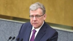 RUSSIA -- Aleksei Kudrin, the head of Russia's Audit Chamber, addresses a session of the State Duma in Moscow, June 20, 2018