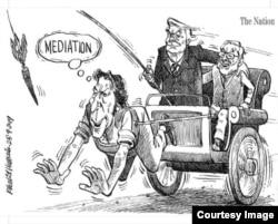 Khalid Hussain's controversial cartoon.