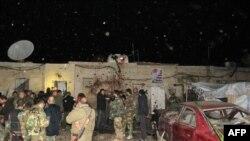 После обстрела сирийской правительственной базы под Дамаском (12 января 2017 г.)