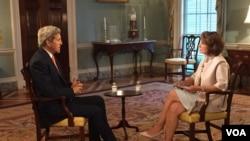 """20 июля в Госдепартаменте США Джон Керри ответил на вопросы журналиста Персидской службы """"Голоса Америки"""" Ситоры Дурахшиш"""