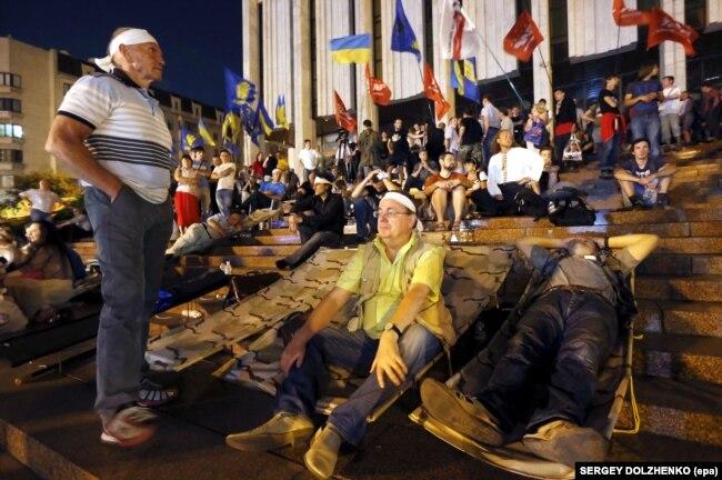 Під час Мовного Майдану. Київ, 4 липня 2012 року